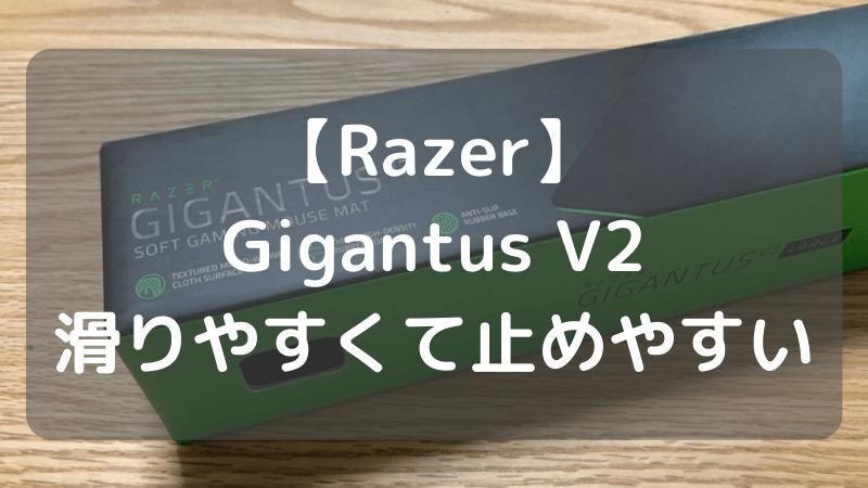 Razer Gigantus V2 レビュー